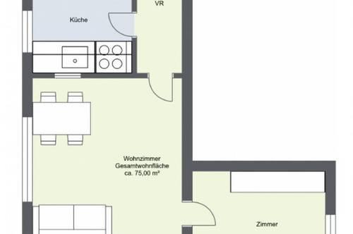 moderne 3-Zimmer-Wohnung in Biedermannsdorf