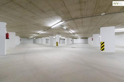 KONTAKTLOSE BESICHTIGUNG MÖGLICH! Tiefgaragenplatz in einer neuen, sehr gut belüfteten, hellen Garage - Idlhofgasse 48 - TG100