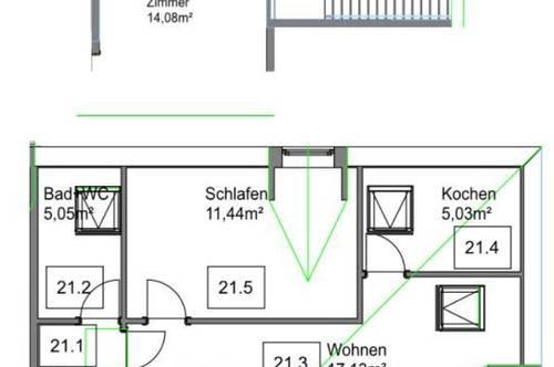 Maisonette-Anlegerwohnung mit Pool & Tennisplatz