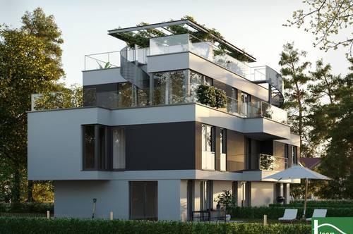 Moderne Designer! Reihenhaushäfte mit großer Dachterrasse - Nähe Donauinsel und Blick zum Kahlenberg