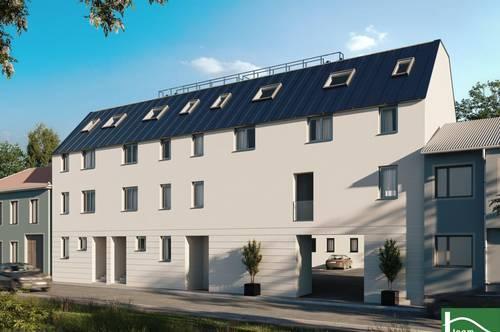 Terrassen, Gärten & Balkone direkt am Bach liegend - Ziegelmassiv-Bauweise - Erstbezug - 3-Schichtverglasung und Sonnenschutzelemente - Pkw-Stellplätze