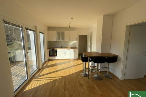 Perfekte Raumaufteilung! Hochwertige Ausstattung! Voll ausgestattete Küche! Tolle 2 Zimmer-Wohnung mit 5m2 Terrasse!