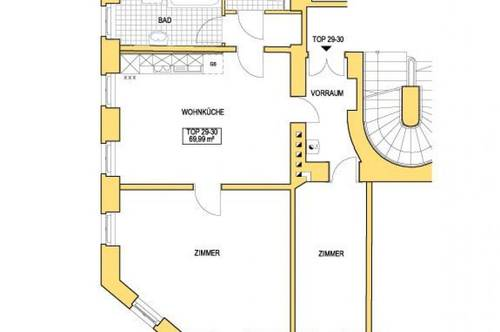 Schöne Altbauwohnung mit großer eingebauter Küche
