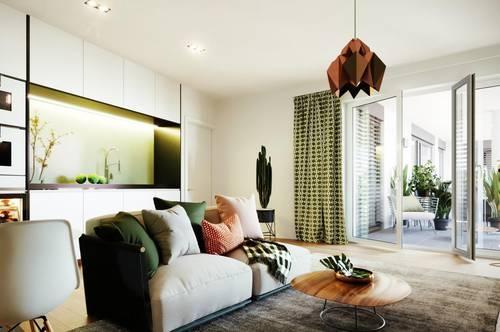 RIVERBANK HOMES - Traumhafte 2-Zimmer Wohnung mit Loggia - provisionsfrei