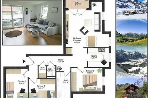 Helle 4-Zimmerwohnung mit Tiefgaragenstellplatz in ruhiger Lage