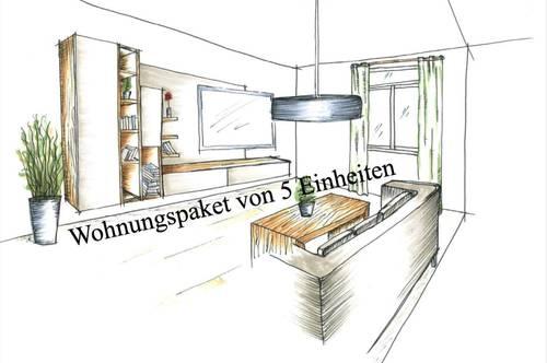 Peggau + Deutschfeistritz, Wohnungspaket von 5 Einheiten