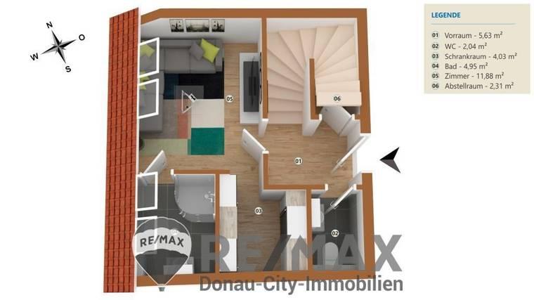 ETW 2100 Korneuburg_Plan 1.DG