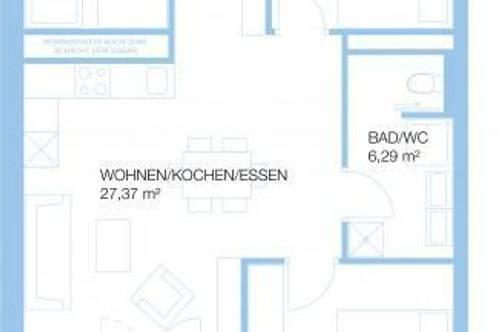 Anlegerwohnung   Triester Strasse 432, 8055 Graz   4 Zimmer (69m²)