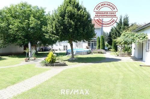 Großes Wohnhaus - Provisionsfrei für den Käufer! Mit Nebengebäude, schönem Garten, Halle und vielen Möglichkeiten!