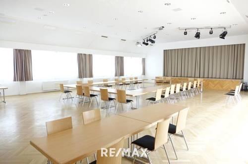 ZUR PACHT: Viele Möglichkeiten! Moderner Saal mit Bühne, Gastronomie, Kellerbar