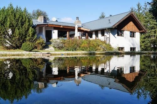 Scharten: Landhaus-Villa mit viel Grün & Wasser!