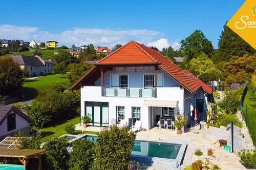 WASSERBLICKE - Einfamilienhaus mit Bio-Pool und Terrassengarten in Mauthausen
