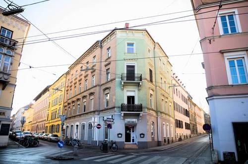 5-geschossiges Stilaltbaueckzinshaus in absoluter Bestlage direkt gegenüber der Kunstuniversität in St. Leonhard