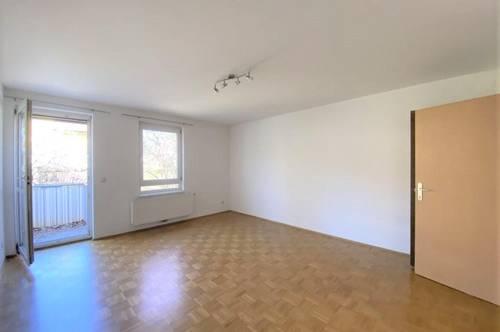 Gut aufgeteilte Single-/Pärchenwohnung mit schönem Balkon in absoluter Grünruhelage