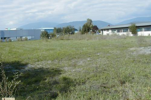 PACHT: Großes Gewerbegrundstück direkt im Villacher Gewerbegebiet