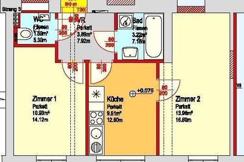 Sehr günstige 2-Zimmerwohnung in Ruhelage Lend!