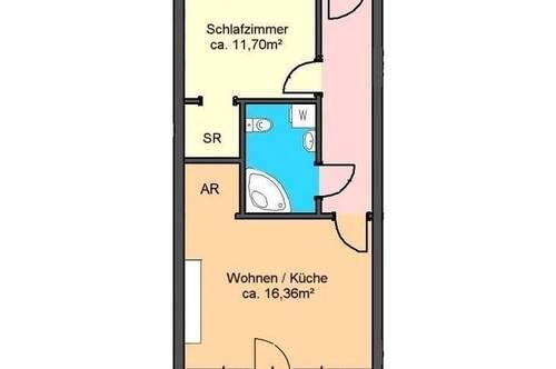 modernes 2-Zimmer-Apartment mit Terrasse und Garagenplatz in Andritz