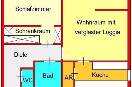 großzügige 2-Zimmer-Wohnung mit verglaster Loggia in der Ragnitz mit top Anbindung zum LKH