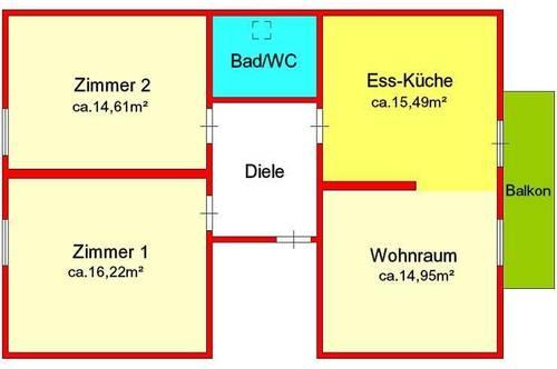 Provisionsfrei: sanierte 3-Zimmer-Dachgeschoßwohnung mit Balkon und Autostellplatz in Gratwein