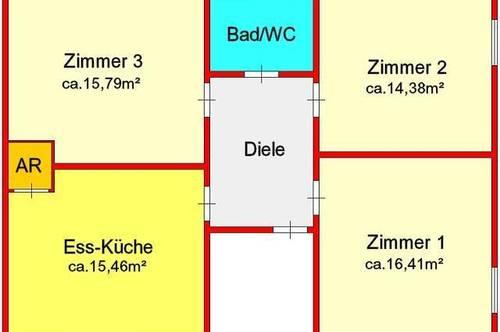 neu sanierte 3-Zimmerwohnung mit Einzelgarage und kleinem Eigengarten in Gratwein