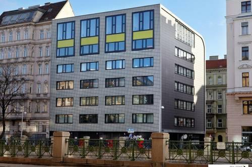 Moderner Bürokomplex auf der Schönbrunner Straße