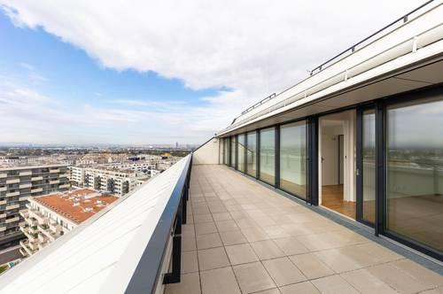 Traumhafter Blick über Wien ~ PROVISIONSFREI ~ 4-Zimmer Wohnung mit 2 Bäder ~ U2 Nähe ~ große Terrasse
