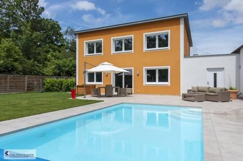 Ruheoase mit Pool, tolles modernes ÖKO-Haus mit neuester Haustechnik, Doppelgarage, Grünlage