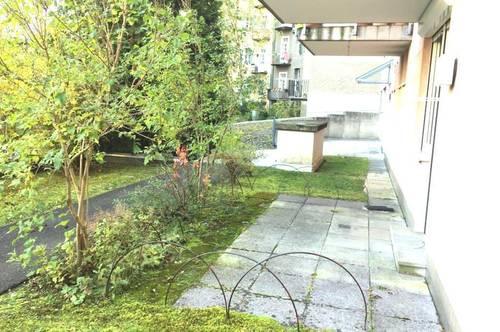 Nähe Schillerplatz! Schöne 2-Zimmerwohnung mit kl. Garten und Terrasse