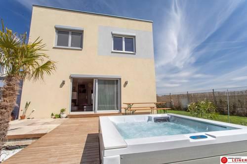 ERFOLGREICH VERKAUFT!!! 2433 Margarethen am Moos - Wien Nähe! Neues - hochwertig ausgestattetes Einfamilienhaus auf 432m² Eckgrundstück mit Whirlpool und großer Garage!