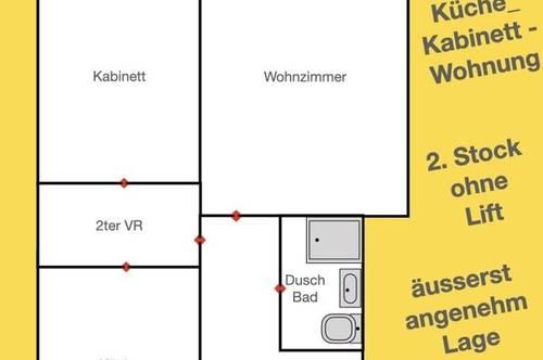 Irgendwie verdammt  lebenswerte Lage -Zimmer_Küche_Kabinett - Wohnung um 600 Bruttomiete