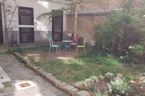 traumhafte Altbauwohnung mit Kelleratelier und Garten zu verkaufen