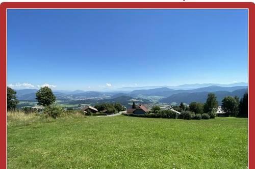 Ebenes Panorama-Grundstück auf 1000 Meter Seehöhe, absolut ruhig