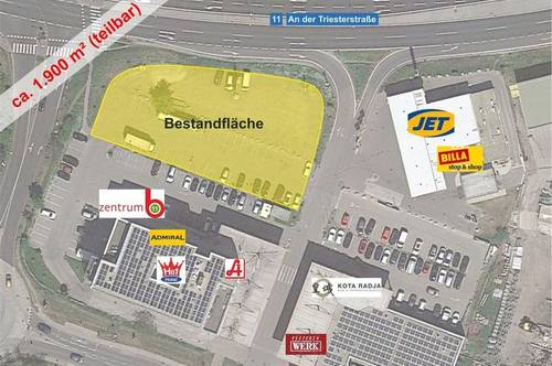 Wiener Neudorf Zentrum B11 - ca. 1.900 m² Freifläche in Top Frequenzlage langfristig zu mieten