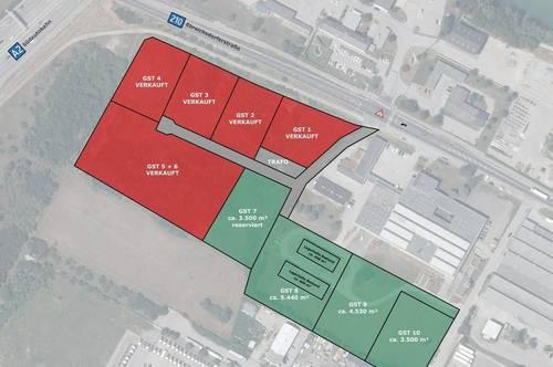 Gewerbepark A2 Tribuswinkel - Gewerbegrundstücke mit Lagerhallen zu kaufen - Exzellente Lage & A2-Anbindung