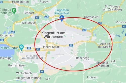 Klagenfurt: Gewerbegrundstücke von ca. 5.000 m² bis ca. 50.000 m² im künftigen Gewerbegebiet Klagenfurt Ost zu kaufen