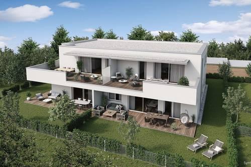 Steinhaus bei Wels - sonnige Lage in Stadtnähe zu Wels - Wohnung mit großem Balkon - Neubau - Ziegelmassivbauweise