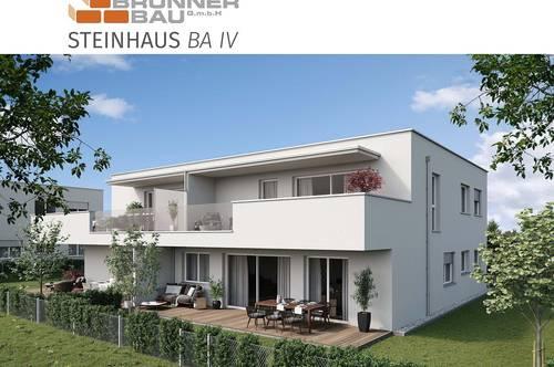 Steinhaus   Hochwertige 4-Raum-Gartenwohnung - Neubau - werthaltige Ziegelmassivbauweise in Niedrigenergiebaustandard mit Luft-Wärmepumpe