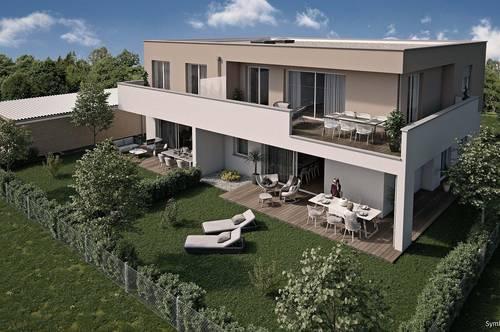 Steinhaus   Hochwertige 4-Raum-Gartenwohnung - Neubau - werthaltige Ziegelmassivbauweise in Niedrigenergiebaustandard
