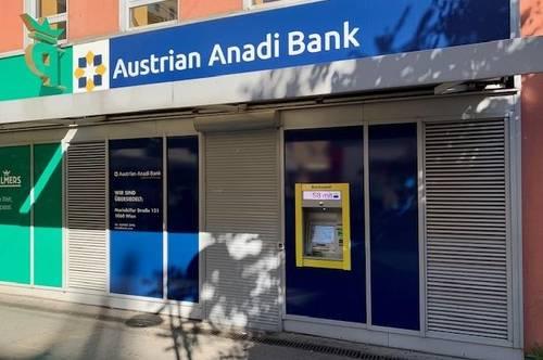 Geschäftsfläche (ehemalige Anadi Bank Filiale) direkt bei der U1 Station Reumannplatz