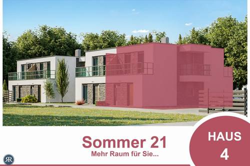 6-Zimmer Doppelhaushälfte in Ziegelmassivbauweise, vollunterkellert, mit Balkonen, Terrasse und Garten / ab Sommer 2021 / Haus 4