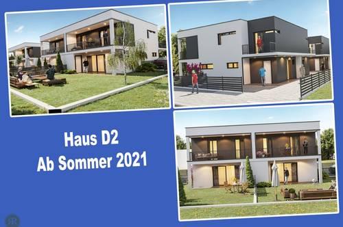 4-Zimmer Doppelhaushälfte in Ziegelmassivbauweise mit Balkonen, Terrasse und Garten / ab Sommer 2021 / Haus D2
