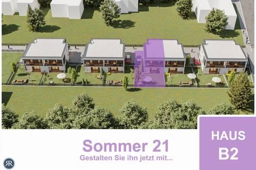4-Zimmer Doppelhaushälfte in Ziegelmassivbauweise mit Balkonen, Terrasse und Garten / ab Sommer 2021 / Haus B2