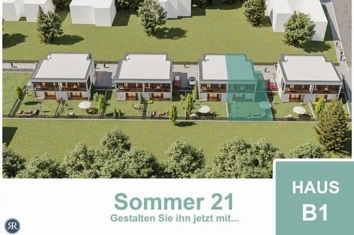 4-Zimmer Doppelhaushälfte in Ziegelmassivbauweise mit Balkonen, Terrasse und Garten / ab Sommer 2021 / Haus B1