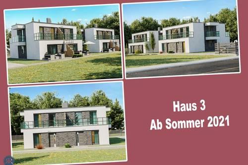 6-Zimmer Doppelhaushälfte in Ziegelmassivbauweise, vollunterkellert, mit Balkonen, Terrasse und Garten / ab Sommer 2021 / Haus 3