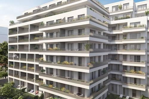 Grenze Wien/Vösendorf Exklusive 2 Zimmer Wohnung mit begehbarem Kleiderschrank und Balkon in den Innenhof