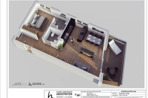 Kirchdorf: 59 m² 2 - Zimmerwohnung Neubau