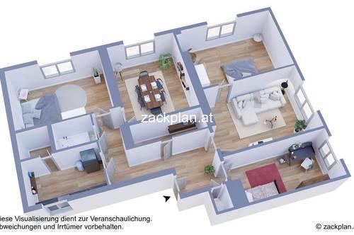 zentrumsnahe Fünfzimmerwohnung für die ganze Familie mit Aussicht! provisionsfrei für den Käufer!