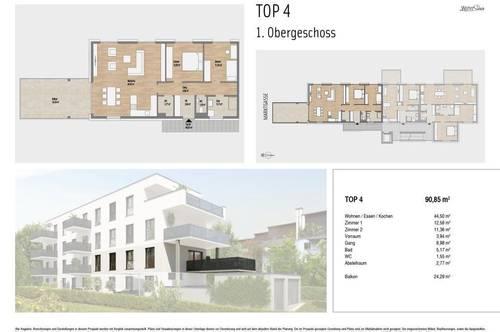 Wohnen mit Stil in Waltendorf   90m² Erstbezug mit großem Balkon in ruhiger Wohnumgebung - ab 2022