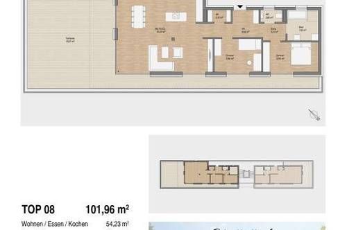 Lichterfülltes Penthouse in Premiumlage | 101m² mit großzügiger 82m² Sonnenterrasse! Ab Sommer 2022