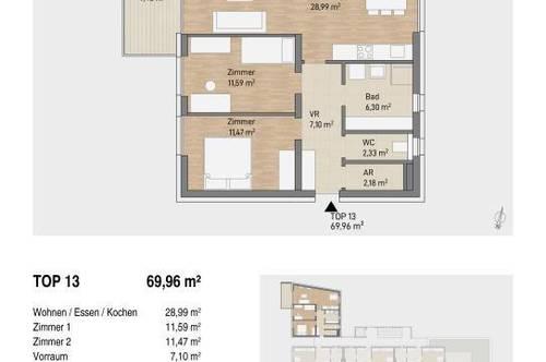 Exklusiver 70m² Anlegerhit in Hart bei Graz | Investieren mit kleinem Bauherrenmodell